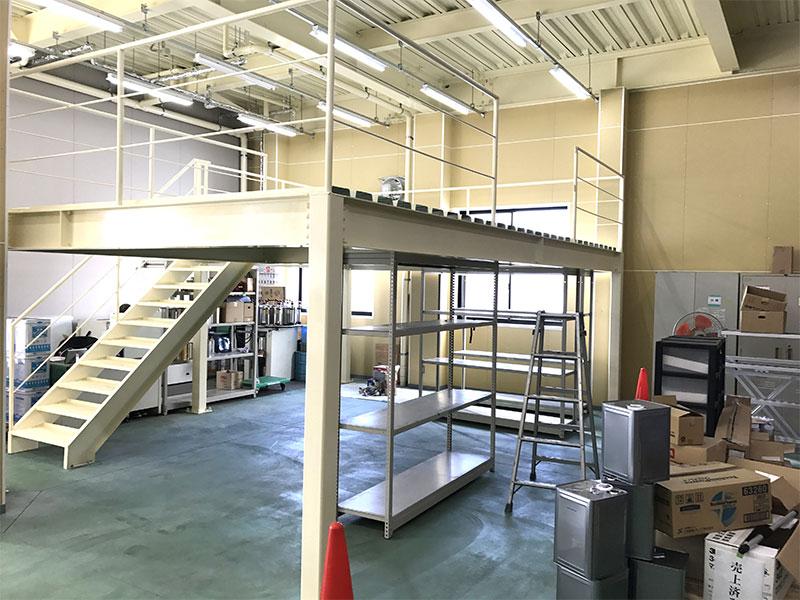 倉庫内中二階施工後